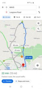 Google map delivery route for same day courier
